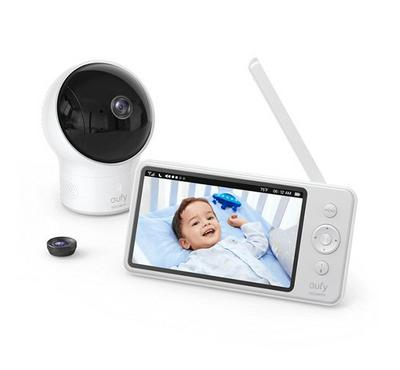 Eufy, Security Baby Monitor Display,110° Wide 720P HD With Camera, White