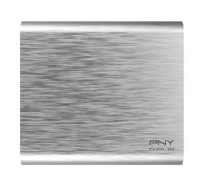 "PNY PRO ELITE 1TB 2.5"" Portable SSD USB3.1 Gen 2 Silver"