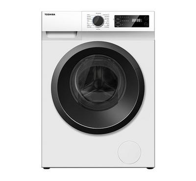 Toshiba Front Load Washer, 7 kg, 1200 RPM, Real Inverter, Digital Display, White