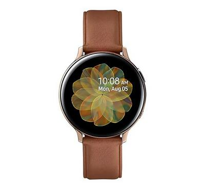 Samsung Galaxy Watch Active 2 44mm Stainless Steel, Leather Gold