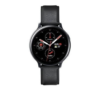 Samsung Galaxy Watch Active 2 44mm Stainless Steel, Leather, Black