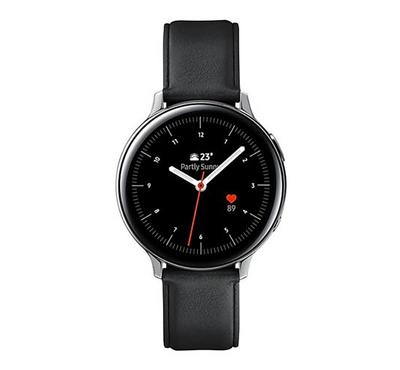 Samsung Galaxy Watch Active 2 44mm Stainless Steel, Leather Silver