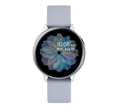 Samsung Galaxy Watch Active 2 44mm, Aluminum Leather, Silver.