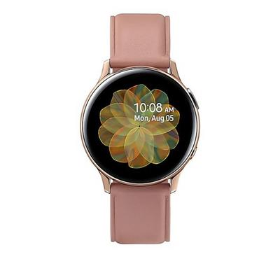 Samsung Galaxy Watch Active 2 40mm, Stainless Steel Leather Gold.