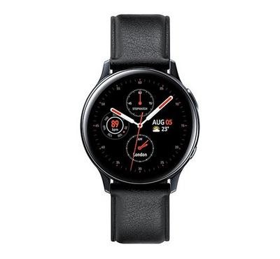 Samsung Galaxy Watch Active 2 40mm, Stainless Steel Leather, Black.