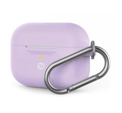 Baykron PT-P1PRPL Silicone Case Airpods Pro w/ Carabiner, Purple