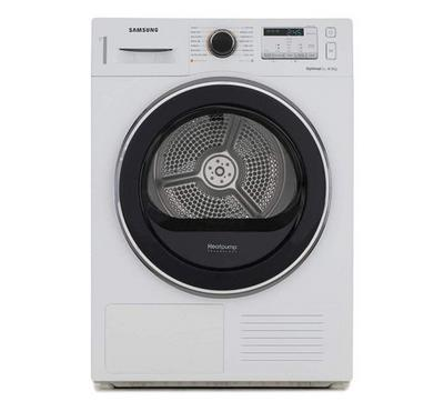 Samsung Dryer, OptimalDry 8kg, Condenser, Heatpump, White
