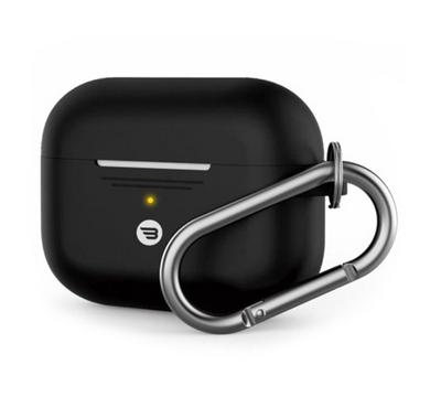 Baykron PT-P1BLK Silicone Case Airpods Pro w/ Carabiner, Black