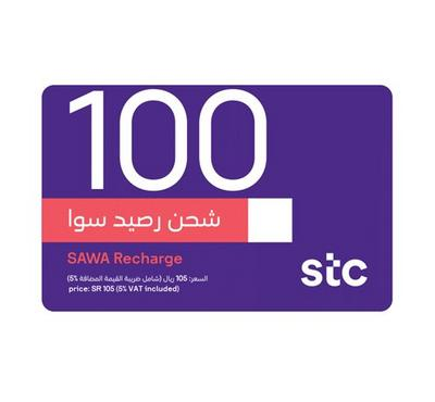 STC Sawa E-Voucher Recharge, 100 SAR, Product Key, Delivery by Email
