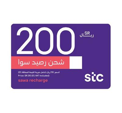 STC Sawa E-Voucher Recharge, 200 SAR, Product Key, Delivery by Email