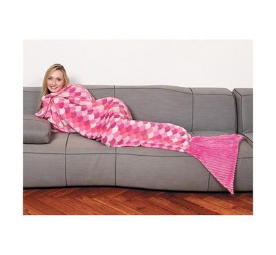 كانجرو، بطانيه للأطفال على شكل حورية البحر، وردي
