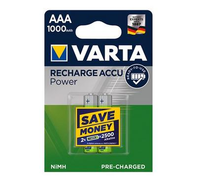 Varta AAA Rechargeable Batteries 1.5V, 2 Pack