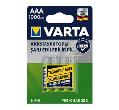 Varta AAA Rechargeable Batteries 1.5V, 4 Pack.