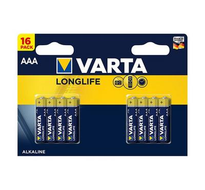 Varta AAA Alkalline Longlife Batteries 1.5V 16 Pack