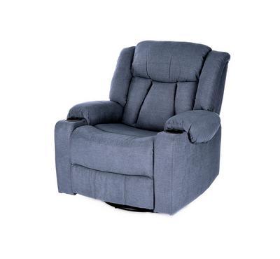 HOMEZ Rocking & Swivel Recliner Armchair, Blue