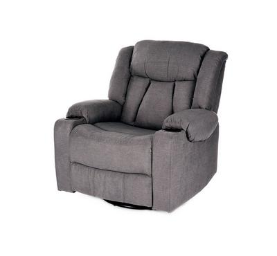 HOMEZ Rocking & Swivel Recliner Armchair, Grey