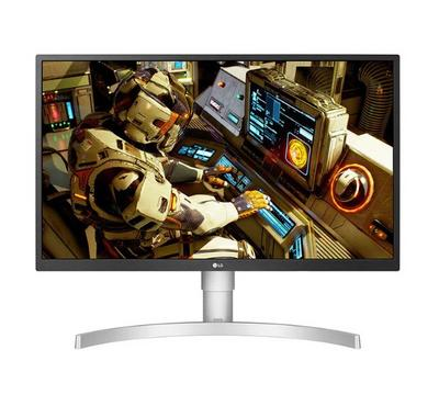 LG 27 inch HDR Monitor, 4K UHD, White