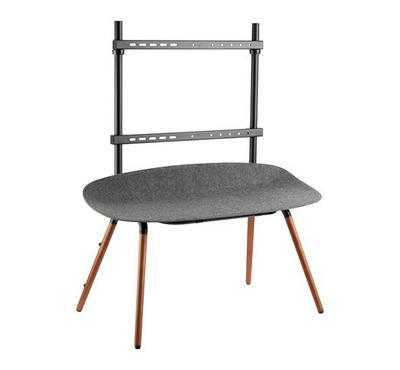 Brateck, sweEasel Studio TV Floor Stand with Felt Shelving Walnut