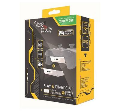 Play Charger Kit - Twin Batteries + Cable, White, Xbox One