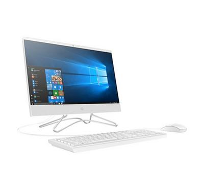 HP AIO Desktop, Core i3, 1TB, 4GB RAM, 21.5-inch FHD, White.