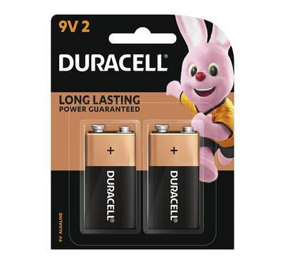 Duracell, Copper Black 9V 2pk Monet