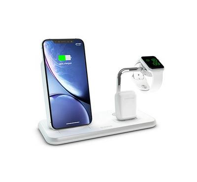 ZENS, Aluminium Dual Wireless Charger For Dock Withe Watch 10W, White