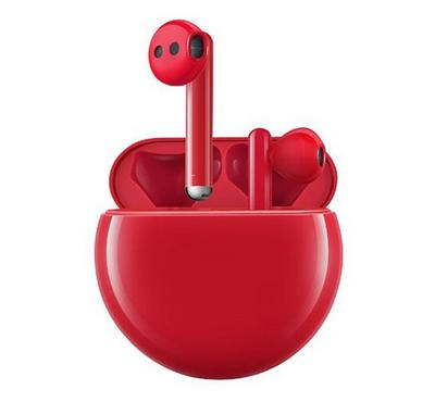 هواوي فري بودز 3، مع تقنية إلغاء الضجيج الذكية، أحمر