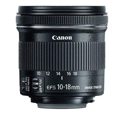 CANON EF-S 10-18mm F4.5-5.6 IS STM Widest Lens