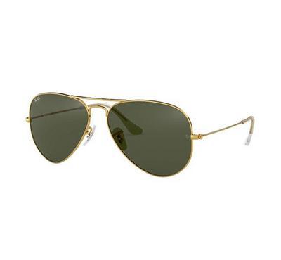 راي بان نظارة شمسيه عدسات خضراء اللون
