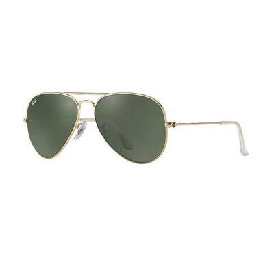 راي بان نظارة شمسيه عدسات خضراء رمادية اللون مقاس وسط