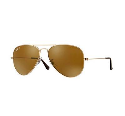 راي بان نظارة شمسيه بنية اللون مقاس وسط