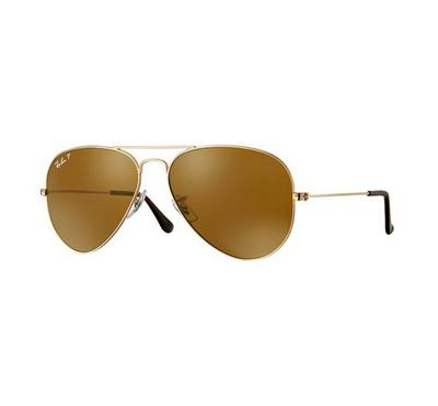 راي بان نظارة شمسيه بنية اللون مقاس كبير