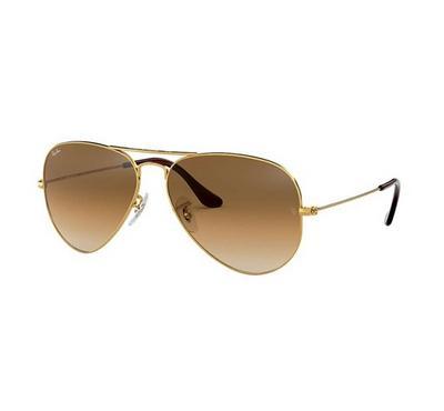 راي بان نظارة شمسيه بني متدرج اللون مقاس كبير