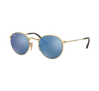 Rayban Round Flat Lenses Sunglasses RB3447N 001/9O 50-21