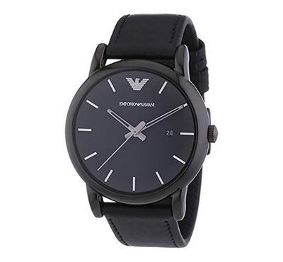 Emporio Armani, Men's Watch, Black With Black Dail