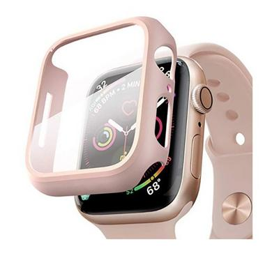 Hyphen Apple Watch Shock Proof Protector Tempered Glass 40mm, Rose Gold