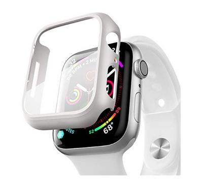 Hyphen Apple Watch Shock Proof Protector Tempered Glass 40mm, Silver