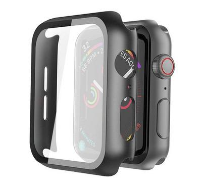 Hyphen Apple Watch Shock Proof Protector Tempered Glass 44mm, Black