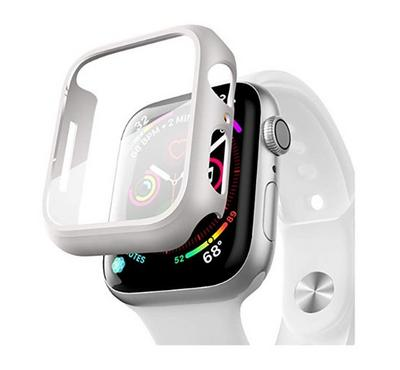 Hyphen Apple Watch Shock Proof Protector Tempered Glass 44mm, Silver