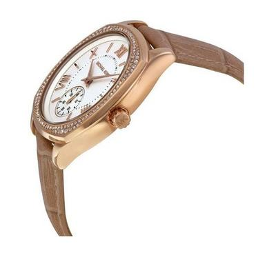 Michael Kors, Women's Watch, Brown With White Dail