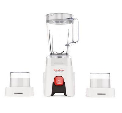 Moulinex Blender, Genuine 4th Generation Attachments, 500W, 1.5L,Max 1.75L, Speed1, Pulse. 4 Blades.