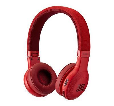 JBL E45 Wireless Bluetooth On- Ear Headphone, Red