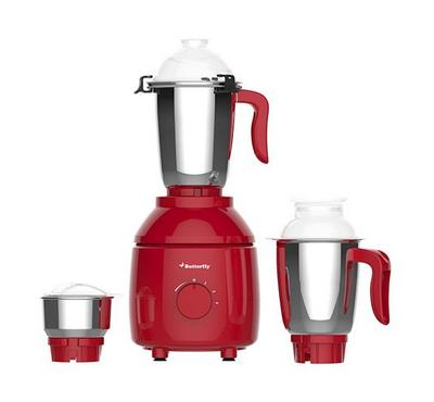 Butterfly Classic Mixer Grinder, 3 Jars Red 550W.