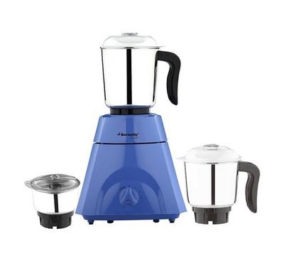Butterfly Classic Mixer Grinder, 3 Jars,550W, Blue