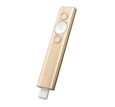 لوجتيك، جهاز عرض، لاسلكي، 2.4 جيجاهرتز، بلوتوث، ذهبي