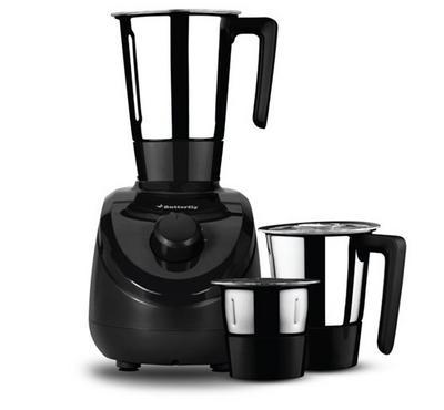 Butterfly Elegant Mixer Grinder, 3 Jars, 750W, Black