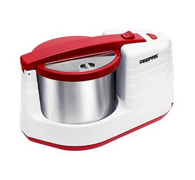 Geepas Wet Grinder 200W, 2ltr Stainless Steel Drum,White&Red.
