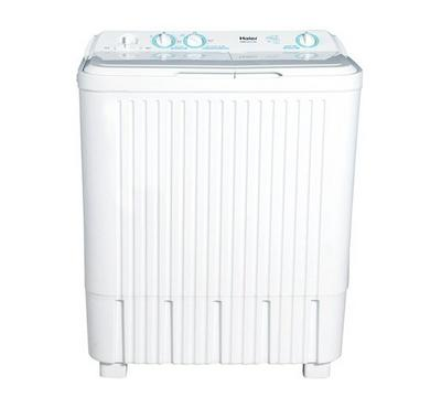 Haier Twin Tub Semi Automatic Washing Machine  8 Kg, Anti Shock, Anti rust, White