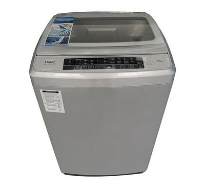 Haier Top Load Fully Automatic Washing Machine, 10Kg, 8 Programs, Silver