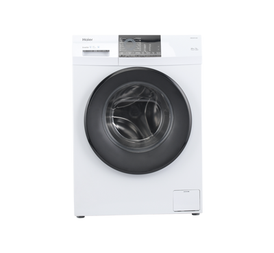 Haier Front Load Auto Washer, 8kg, 1200 RPM, White